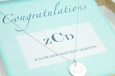 What a sweet & special gift for new moms ~~ customized pendent of their child's monogram (sterling or gold available)