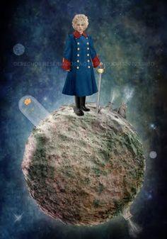 le petit prince -stella blu