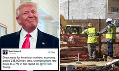 Jobs up, wages up, unemployment down in Trump boost #DailyMail