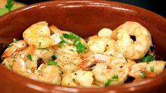 Traditional Garlic Shrimp Recipe - Summer Tapas Series, Tapas 3 - Cookin...