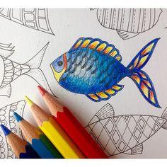 Coloring Book Art, Mandala Coloring, Adult Coloring, Coloring Pages, Coloring Tips, Colouring, Lost Ocean, Magical Jungle Johanna Basford, Ocean Drawing