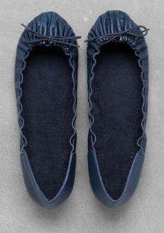 Leather ballerinas | Navy | & Other Stories