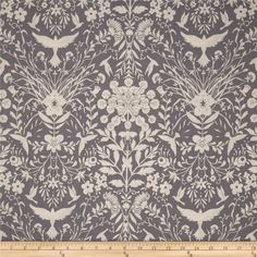Black & White Flower Spray Shadow from @fabricdotcom  Designed by Jennifer Sampou for Robert Kaufman, this cotton print fabric is perfect for quilting, apparel and home decor accents. Colors include grey and cream.
