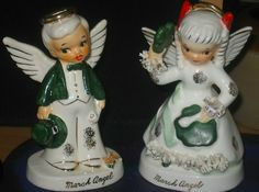 Vintage Napco Angels March St. Patrick's Day