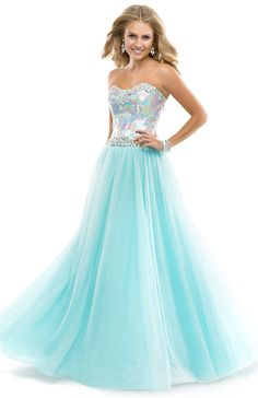 Flirt Prom 2014 Dress Style P4862  Ball Gown Dress with Stacked Jeweled Bodice & Tulle skirt | FLIRT Collection  Available Colors: Blush, Electric Teal, Cerise, Frosty Aqua