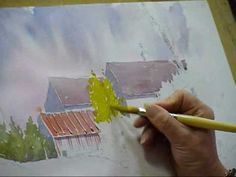 Part 2 of a Video by Ted Cummings of Joanne Thomas painting a watercolour of a Country Lane