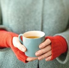 Make fingerless mitts from old sweater at Whole Living, featured @totgreencrafts