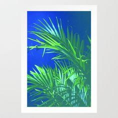 Palm Tree Art Print by Sabertooth - $20.00