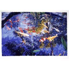 #Raffael (2004) Pond with goldfish, serigraph