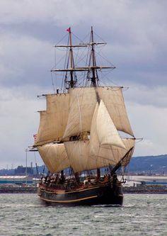 Bounty: Parade of Sail, Tall Ships Belfast 2009 - Bounty: Parade of Sail, Tall Ships Belfast 2009 Moby Dick, Hms Bounty, Sail Racing, Old Sailing Ships, Full Sail, Wooden Ship, Sail Away, Wooden Boats, Model Ships
