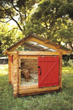 """This design from """"Reinventing the Chicken Coop"""" is made with 2-by-4s and assembled with log-cabin-style joinery."""