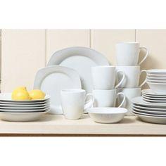 Square Dinnerware Set, 30 Piece Dish…
