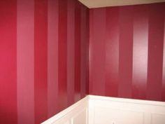 I have wanted to do this for years, once I find a place I can actually paint.  Same color, just use a mat paint and a gloss paint to form stripes!