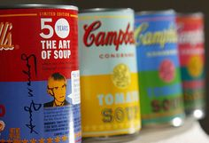 Campbell's Soup limited edition Andy Warhol cans at Target