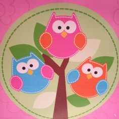 owls on canvas