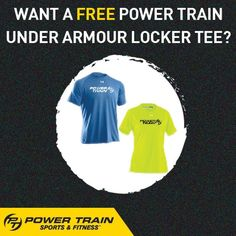 Spring is here! Look great in your Power Train Under Armour Locker Tee. You'll get one FREE when your friend or family member signs up for an annual Sports Membership. #PTGear #IHaveIt