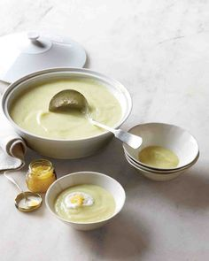 Leek-And-Parsnip Soup with Caviar and Black-Pepper Cream - minus the caviar
