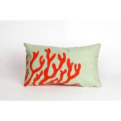 Liora Manne Visions II Coral Lumbar Pillow Color: