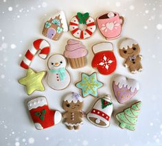 Christmas ornaments felt SET of 15 cute gingerbread door MyMagicFelt