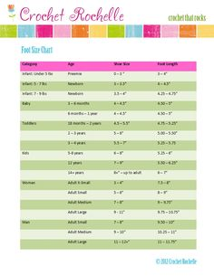 Image result for chart for babies socks measurements