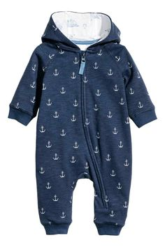 Combinaison en molleton - Dark blue/Anchor - ENFANT | H&M FR 1
