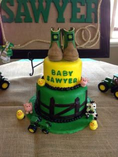 Baby Shower - John deere cake SO CUTE!!