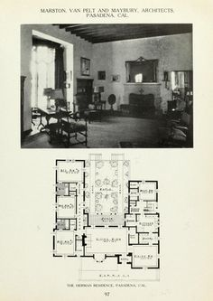American country houses of today ... Maids Room, Architectural House Plans, Vintage House Plans, Spanish Colonial, American Country, Old Houses, Future House, Master Bath, Architecture Design