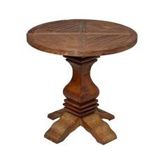 Round Reclaimed Wood End Table  @Amazon.com