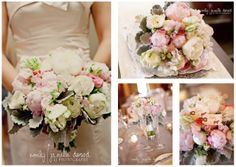 fern with balls boutonnieres | So happy to create these pink and ivory peony bouquets for Emily and ...