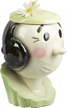 American Bisque Olive Oyl Ceramic Cookie Jar