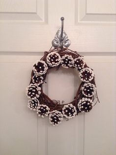 10 inch Pinecone Christmas wreath. Pinecone winter wreath. Christmas ...