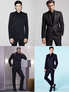 5 New Ways To Wear A Suit : 3. Black-On-Black Lookbook Inspiration