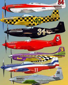 xplanes: Racing Mustangs. Art by Taichiro Yamashita
