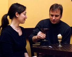 Customers enjoying specialty drinks at Cafe Venetia, 419 University Ave., Palo Alto