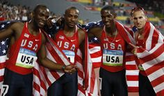 USA Men - Athletics - Beijing 2008 - 4x400m relay - LaShawn Merritt   Angelo Taylor,   David Neville,   Jeremy Wariner,   Kerron Clement,   Reggie Witherspoon