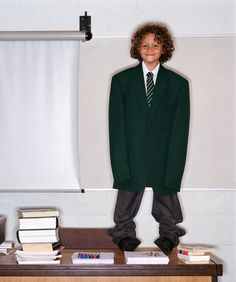 """Wearing a school uniform five sizes too big because your mum wanted you to """"grow into it""""."""