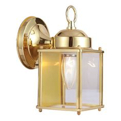 Coach Polished Brass Outdoor Wall Mounted Light Design House Wall Mounted Outdoor Outdoo