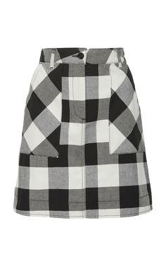 Tomas Maier Check Mini Skirt