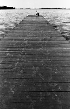 Footsteps to silence at waters edge. Ironic image and caption for me right now.