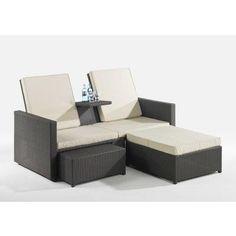 Rattan lounge braun  Benedomi Design Poly Rattan Lounge Sofa Set champagner | Rattan ...