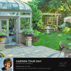 Love my conservatory greenhouse! Over 100 years old Blossom Garden, Conservatory, Bloom, Places, Art, Art Background, Winter Garden, Kunst, Greenhouses