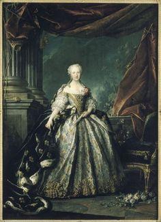 1748 Louis Tocque - Marie-Thérèse-Raphaëlle,... | History of fashion in art & photo