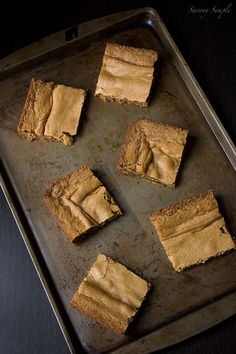 These brown butter vanilla bean blondies are rich, gooey, and completely decadent.