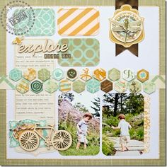 #papercraft #scrapbook #layout. Explore | The Examined Life
