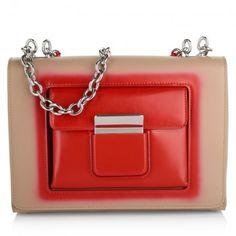 Balenciaga Tasche – Mini Bag Bicolor Beige Red – in rot – Umhängetasche für Damen