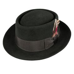 The Pork Pie hat- an advanced hat for men into haberdashery. This one in particular is the jewel of my hat collection. Jaxon Monk Fur Felt Pork Pie Hat