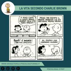 La vita secondo #CharlieBrown: Stare nel qui e ora. #Peanuts