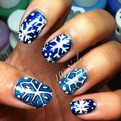 snowflake CHRISTMAS  #nail #nails #nailart