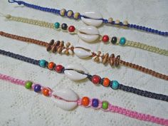 KAURI SHELL Perles Bracelet Avec Surfeur Cordon Bracelet Hippie Summer HAWAII Set