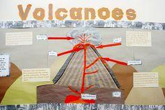 Volcanoes Wall Display Class Displays, School Displays, Library Displays, Classroom Displays, Primary Teaching, Teaching Science, Science Education, Social Science, Teaching Ideas